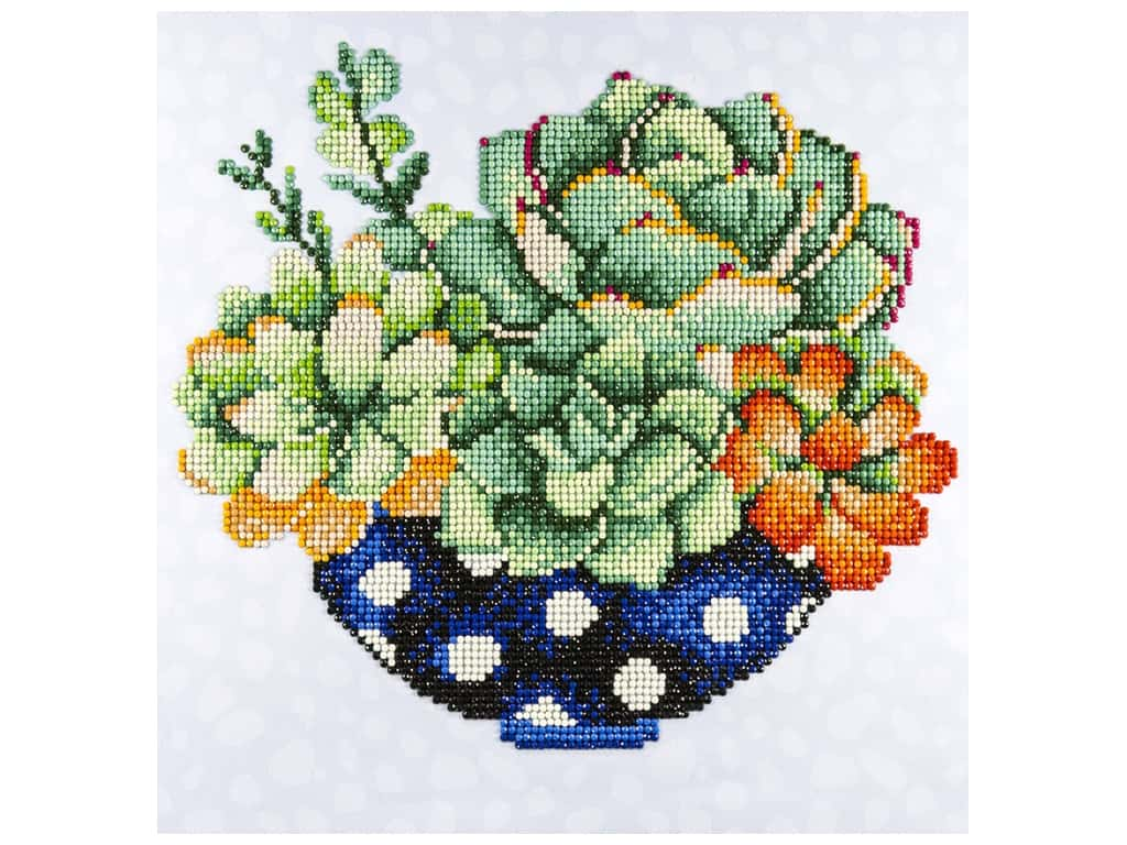 Diamond Art Kit 12 x 12 in. Succulent Bowl