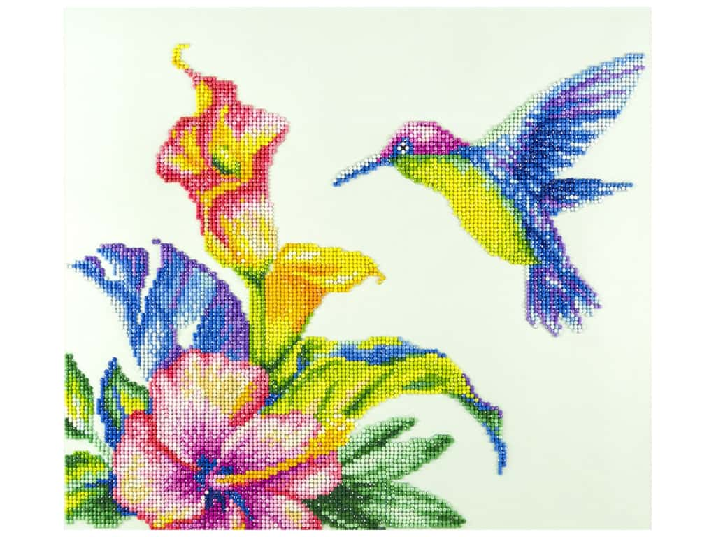 Diamond Art Kit 14 x 16 in. Hummingbird