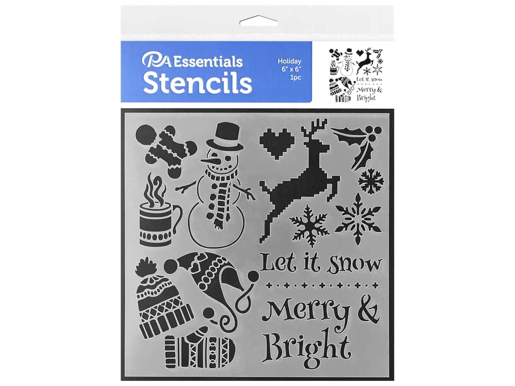 PA Essentials Stencil 6 x 6 in. Holiday