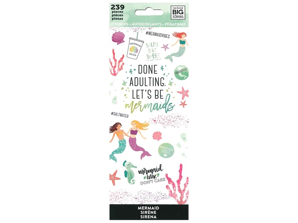 Me&My Big Ideas Sticker Value Pack Mermaids