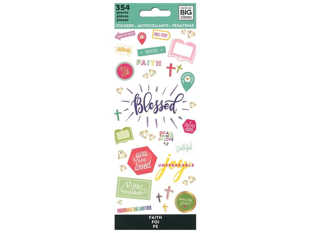 Me&My Big Ideas Sticker Value Pack Faith