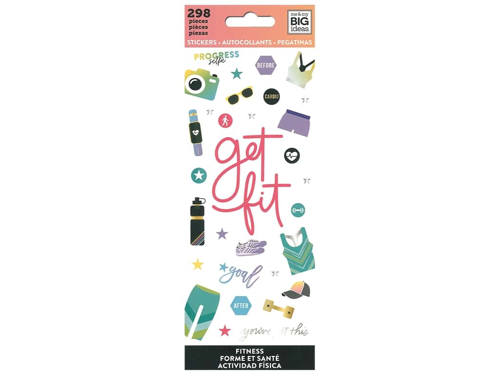 Me&My Big Ideas Sticker Value Pack Fitness