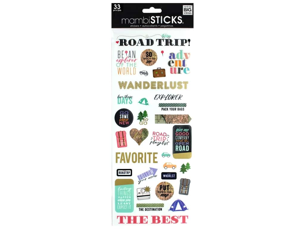 Me&My Big Ideas Sticker Specialty Pack Your Bags