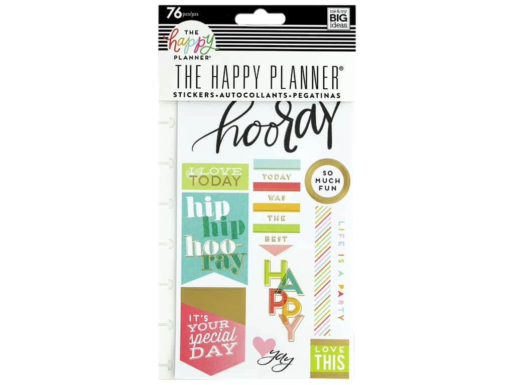 Me&My Big Ideas Collection Create 365 Happy Planner Sticker Snap In I Love Today