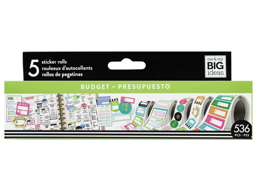 Me&My Big Ideas Collection Create 365 Happy Planner Sticker Roll Budget