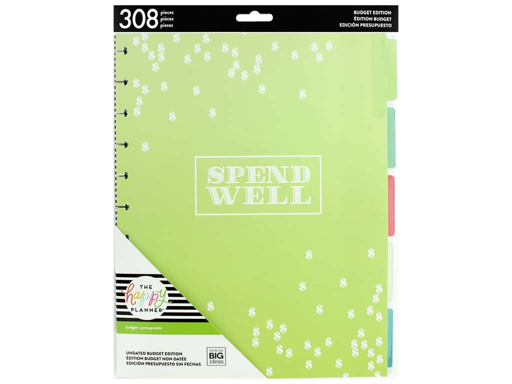 Me&My Big Ideas Happy Planner Extensions Big Month Spend Well