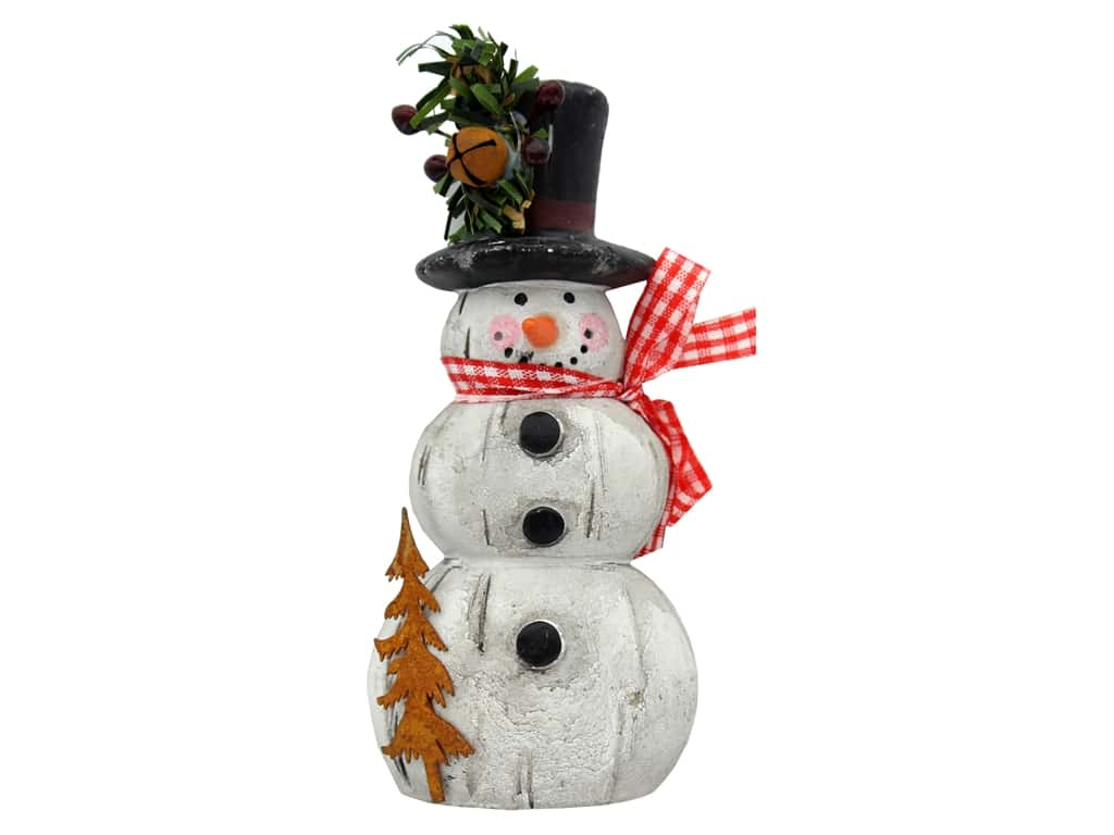 Sierra Pacific Wood Look Snowman White/Black