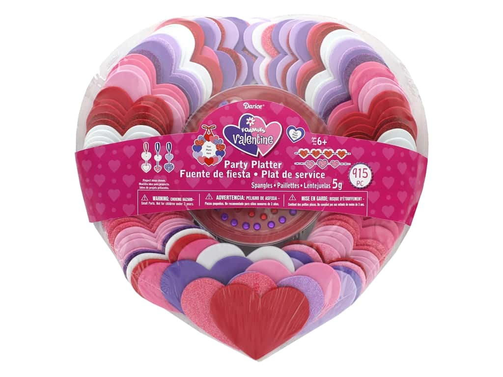 Darice Foamies Kit Party Platter Hearts