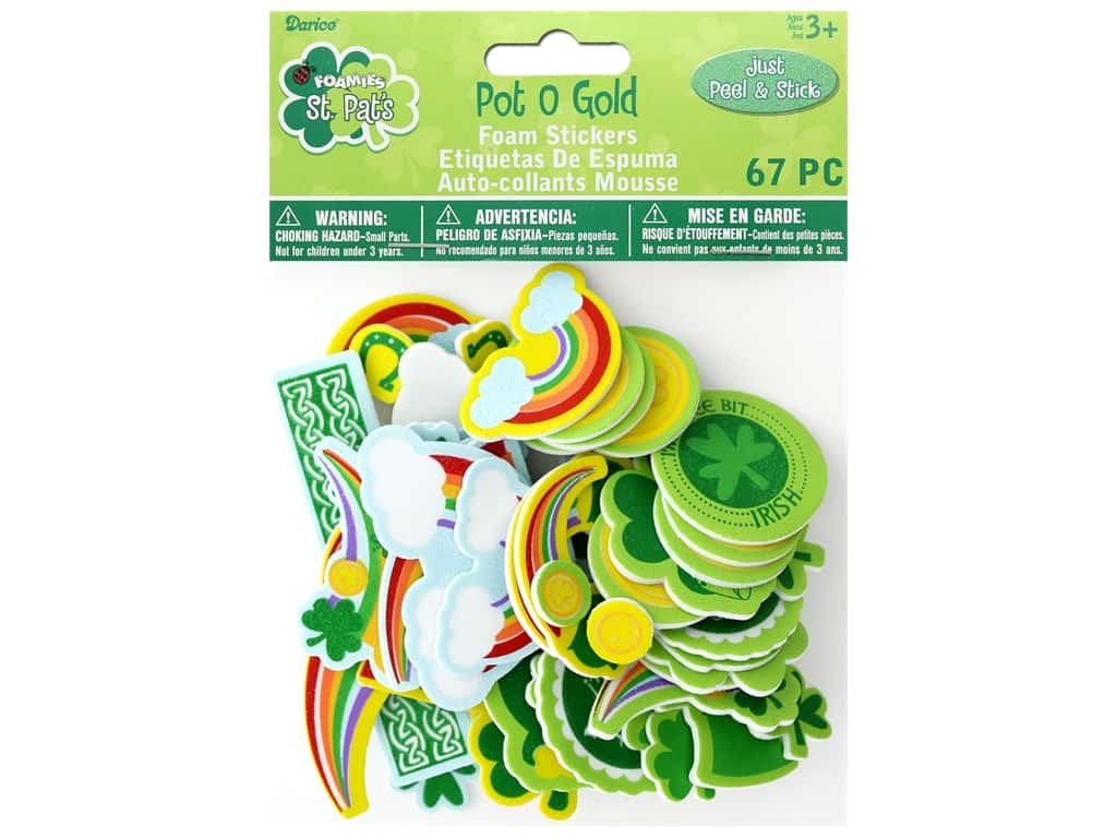 Darice Foamies Sticker Pot Of Gold 67 pc
