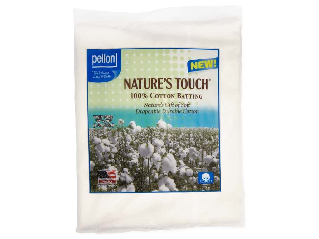 Pellon Batting Nature's Touch Cotton Twin Natural