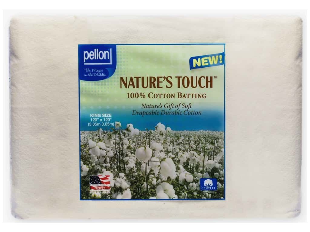 Pellon Batting Nature's Touch Cotton King Natural