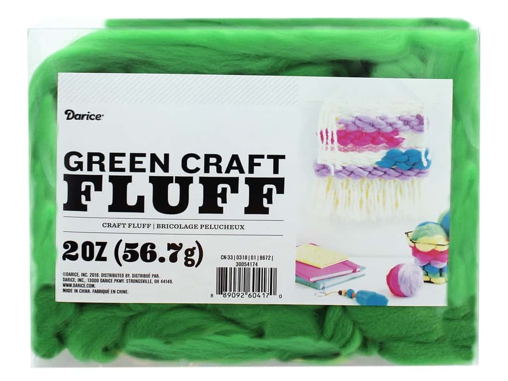 Darice Craft Fluff 2 oz. Green