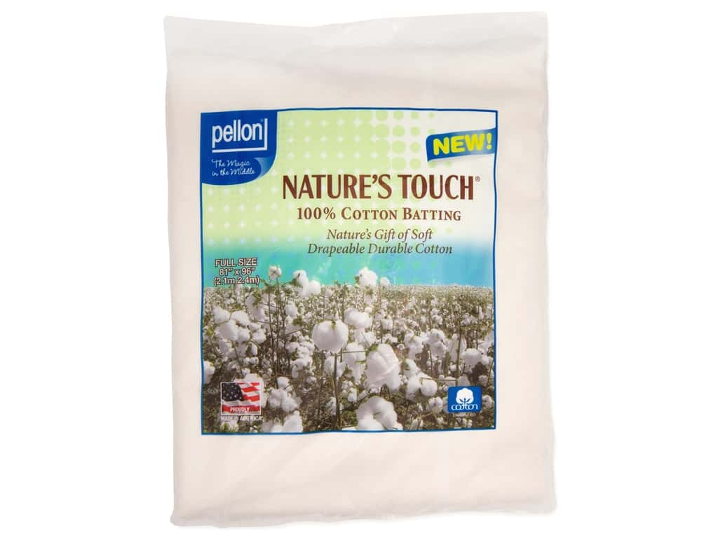Pellon Batting Nature's Touch Cotton Full Natural