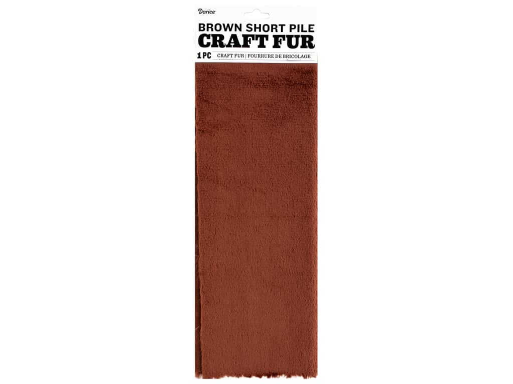 Darice Short Pile Fur 9 x 12 in. Brown