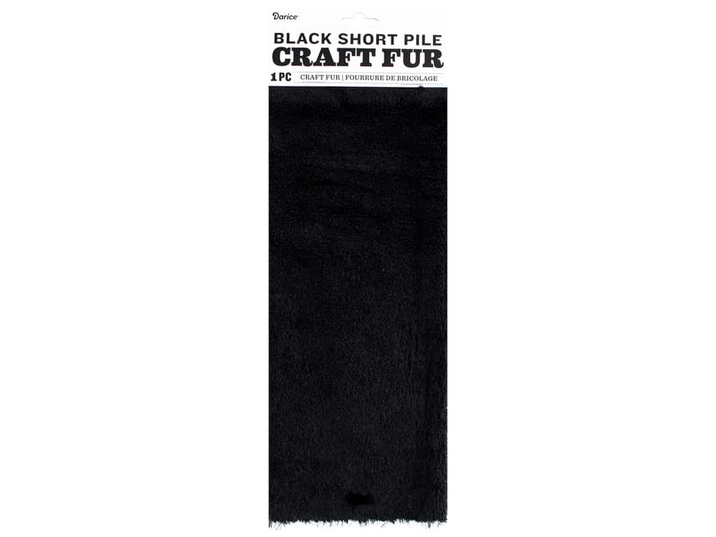 Darice Short Pile Fur 9 x 12 in. Black