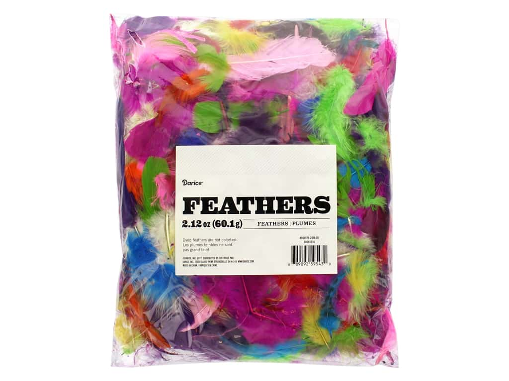 Darice Feather Mixed Vivid