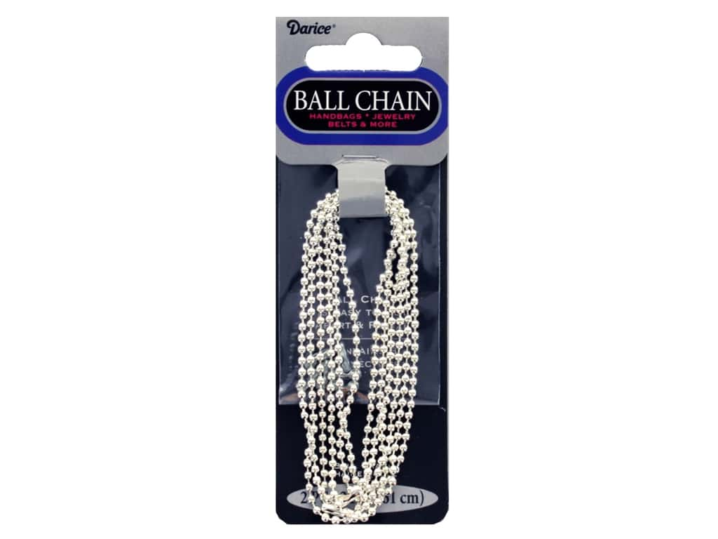 Darice Findings Chain 24 in. Ball 1.8 mm Silver 2 pc