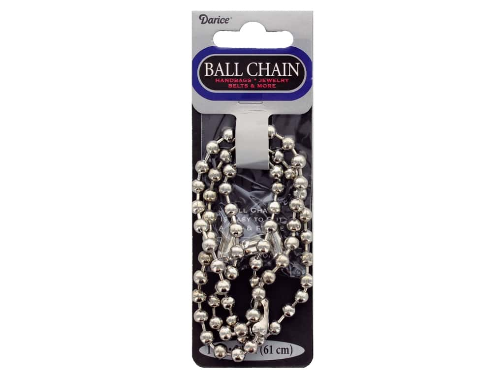 Darice Findings Chain 24 in. Ball 6.3 mm Silver 1 pc