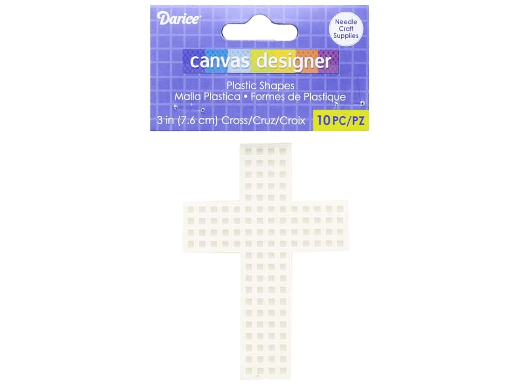 Darice Plastic Canvas Cross 3 in. 10 pc