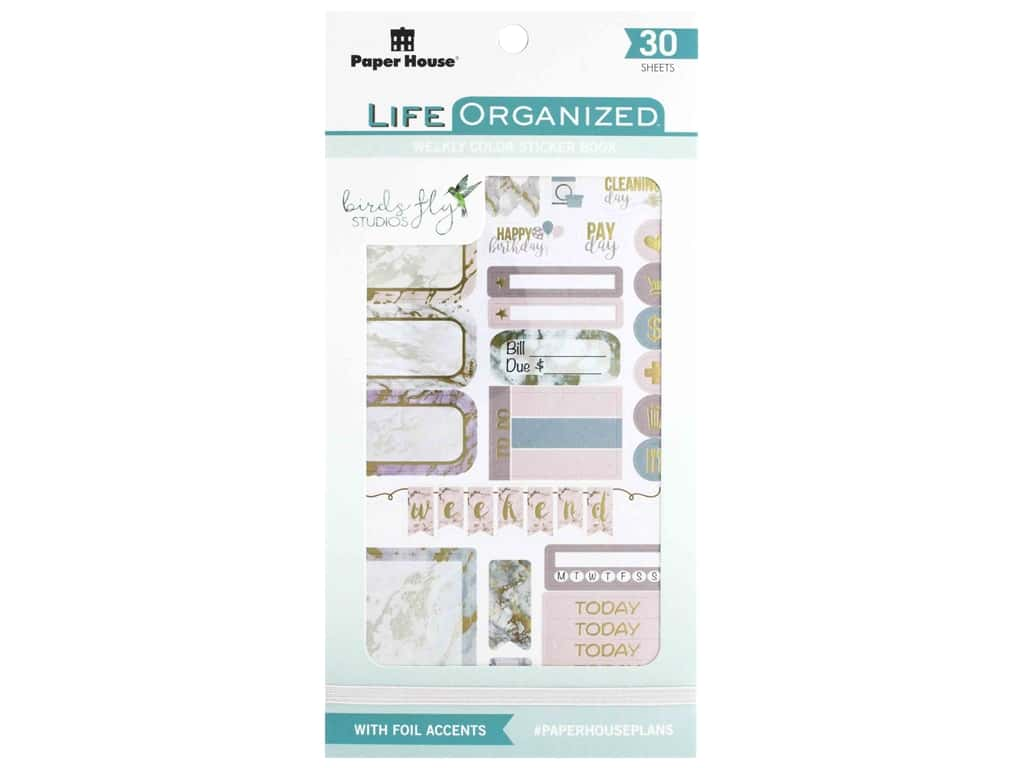 Paper House Collection Life Organized Sticker Book Weekly Color