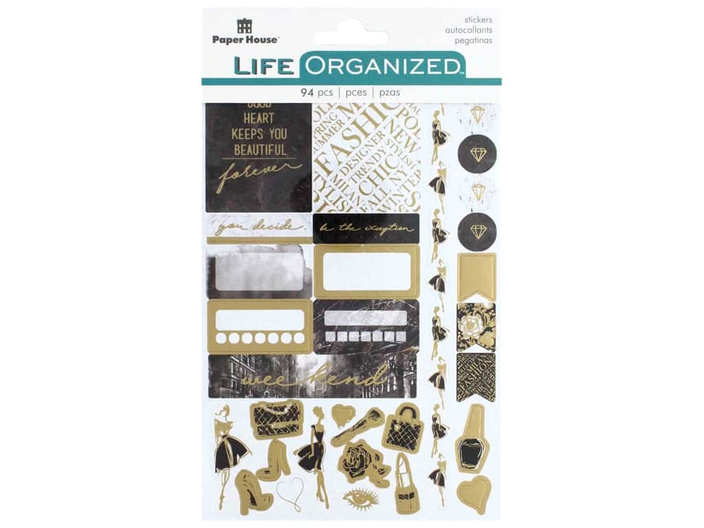 Paper House Collection Life Organized Sticker Planner Fifth Avenue