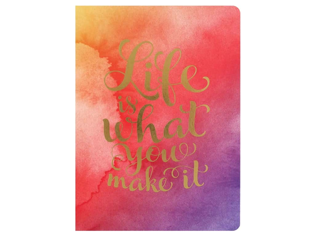 Paper House Collection Life Organized Journal Soft Cover Life Is What You Make It