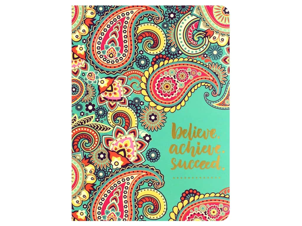 Paper House Life Organized Journal Soft Cover Believe Achieve Succeed