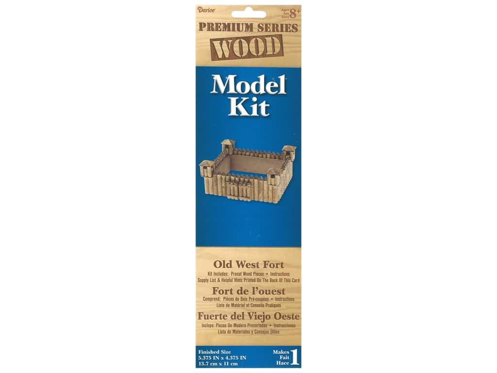 Darice Wood Model Kit Old West Fort