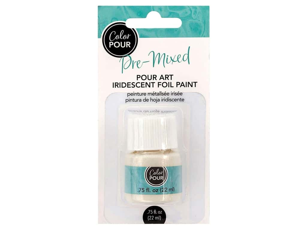 American Crafts Color Pour Pre-Mixed Foil Paint .75 oz. Iridescent
