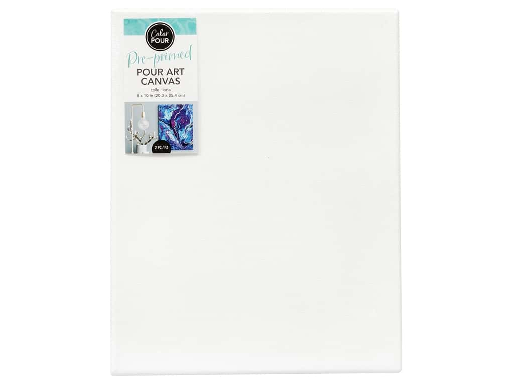 American Crafts Color Pour Pour Art Canvas 8 x 10 in. 2 pc.