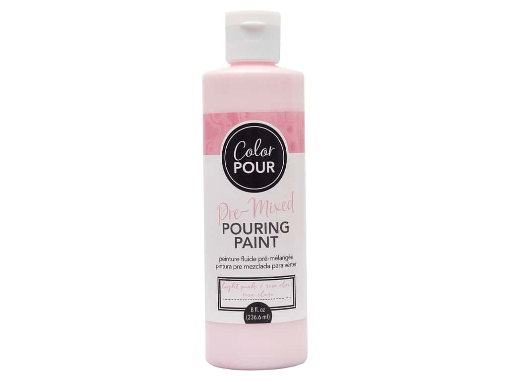 American Crafts Color Pour Pre-Mixed Pouring Paint 8 oz. Light Pink