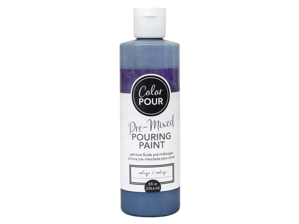 American Crafts Color Pour Pre-Mixed Pouring Paint 8 oz. Indigo