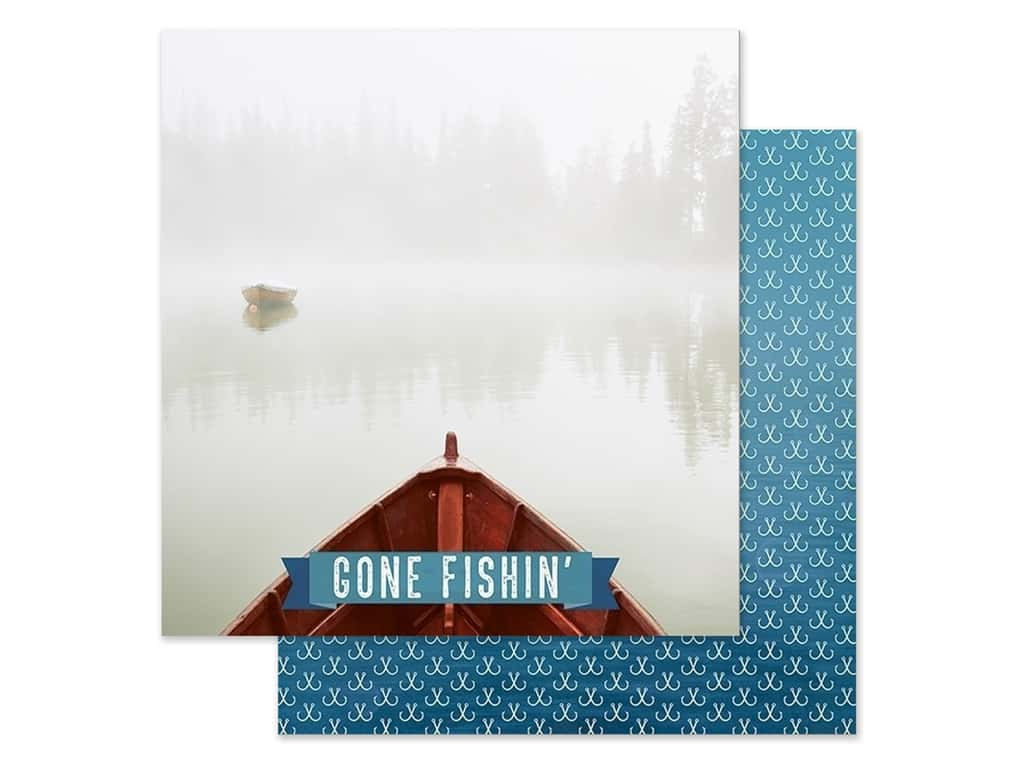 Paper House Paper 12 in. x 12 in. Gone Fishin' (15 pieces)