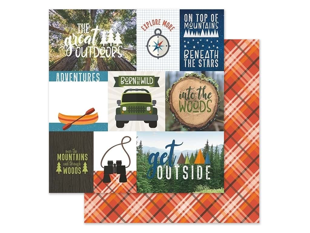 Paper House Paper 12 in. x 12 in. Tags Great Outdoors (15 pieces)