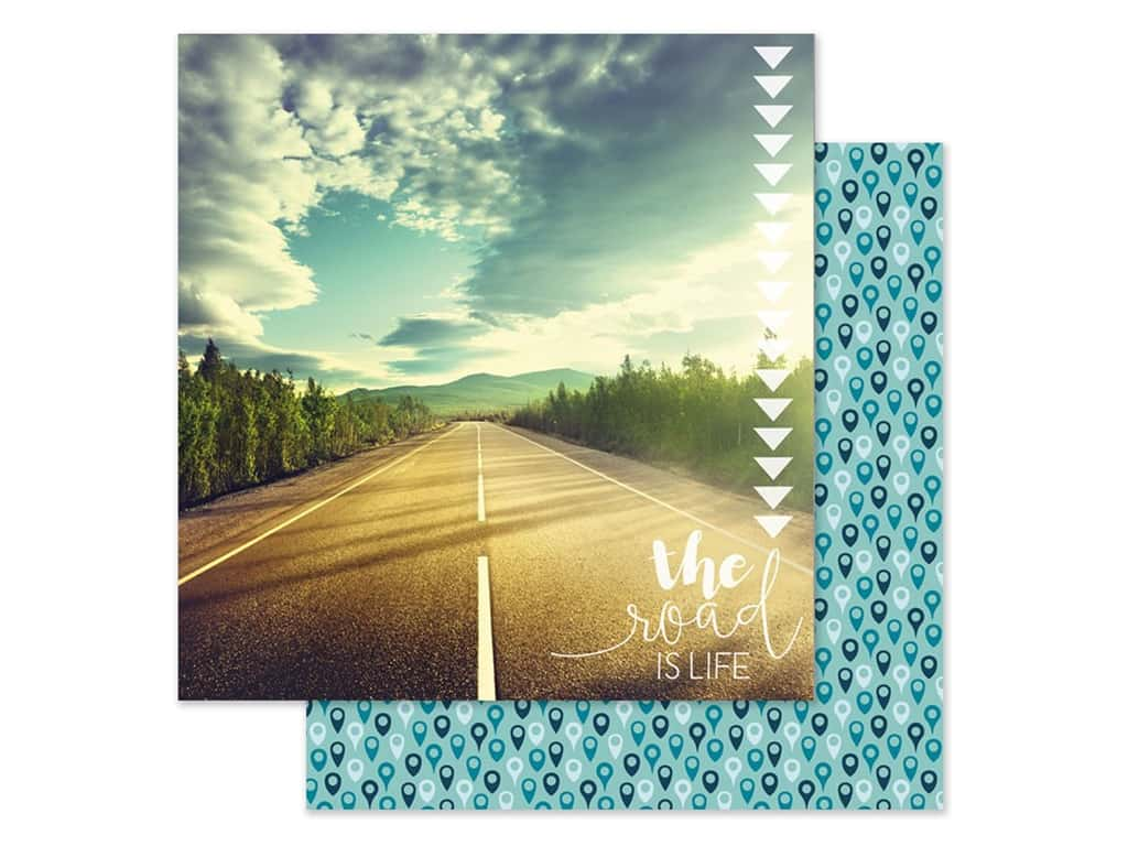 Paper House Paper 12 in. x 12 in. Road Is Life (15 pieces)