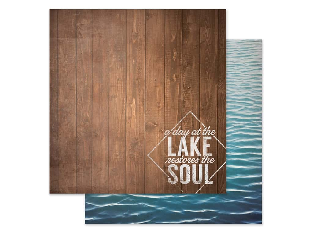 Paper House Paper 12 in. x 12 in. A Day At The Lake (15 pieces)