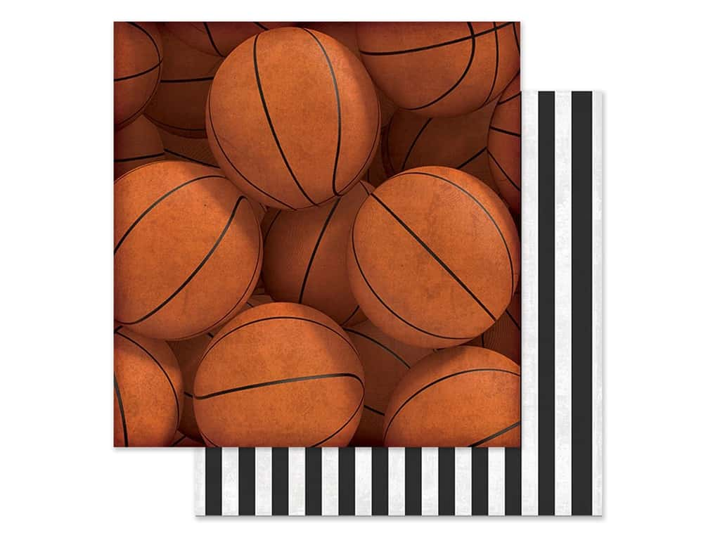 Paper House Paper 12 in. x 12 in. Basketballs (15 pieces)