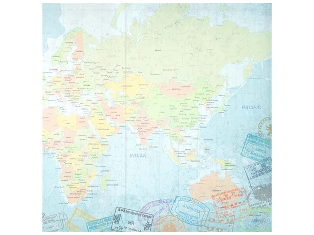 Paper House Paper 12 in. x 12 in. World Travel Eastern Hemisphere (25 pieces)