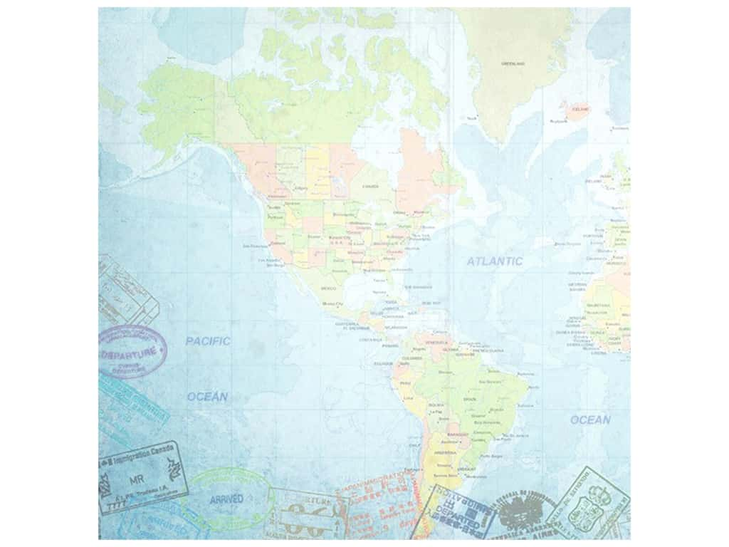 Paper House Paper 12 in. x 12 in. World Travel Western Hemisphere (25 pieces)