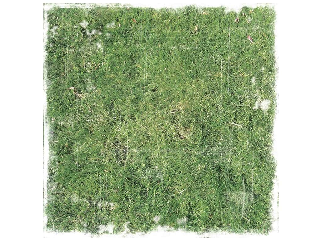Paper House Paper 12 in. x 12 in. Distressed Grass (25 pieces)