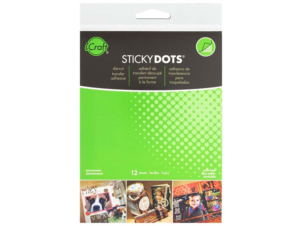 Therm O Web Sticky Dots Adhesive Sheets 4 1/2 x 5 1/2 in. 12 pc.