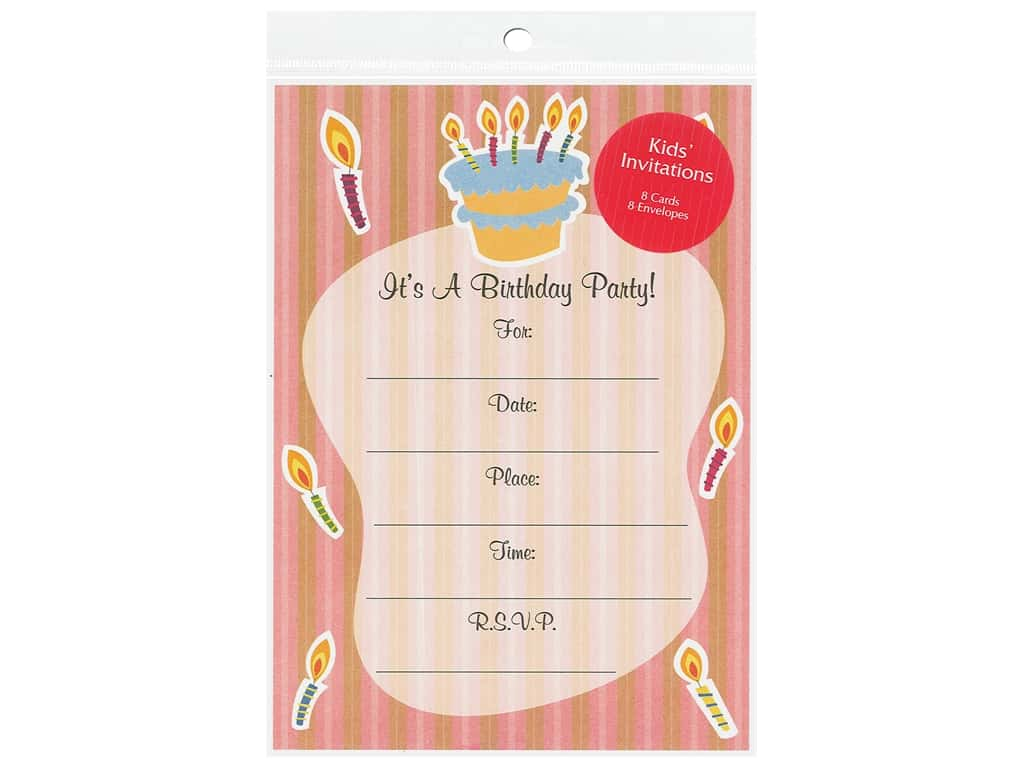 Gallant Greetings General Party Invitation 10 8 ct