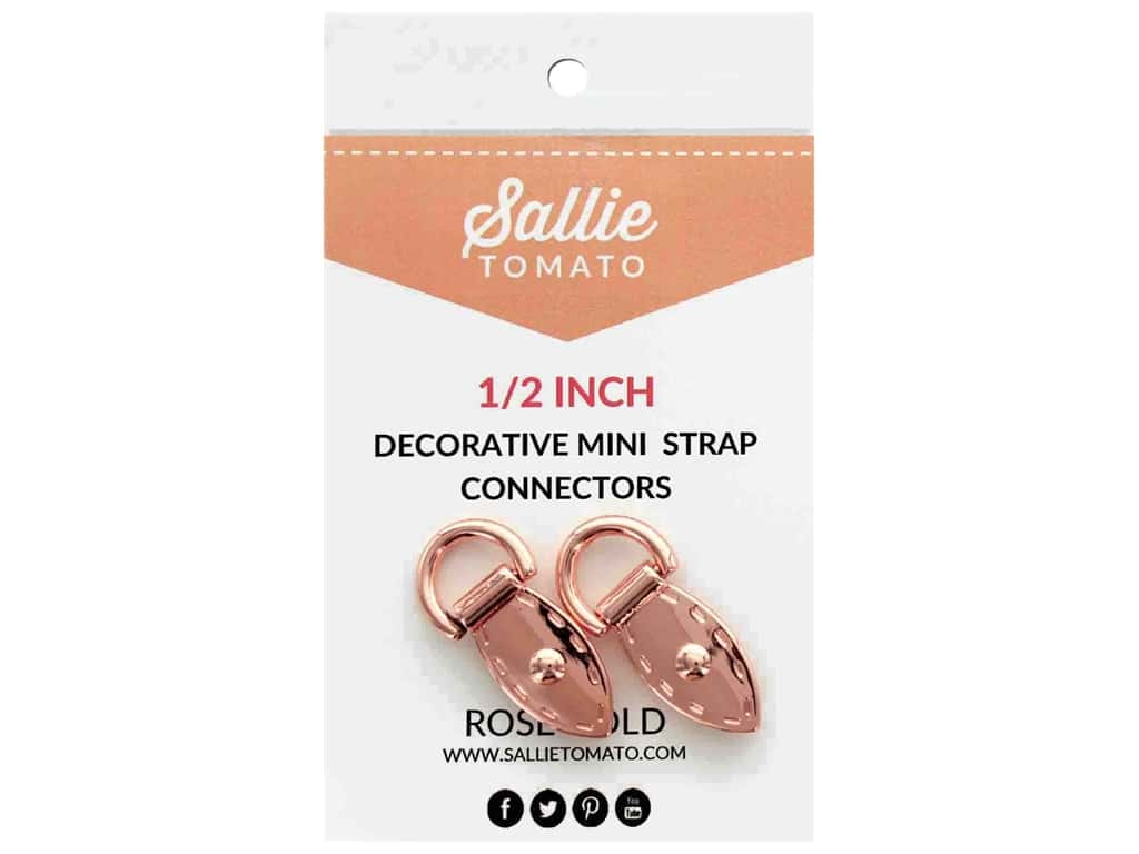"Sallie Tomato Hardware Decorative Mini Strap Connector .5"" Copper/Rose Gold"