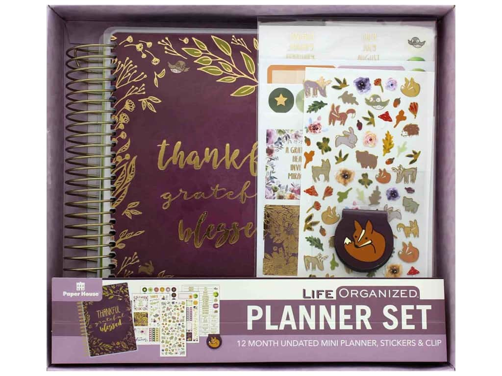 Paper House Collection Life Organized Planner Mini Set Thankful