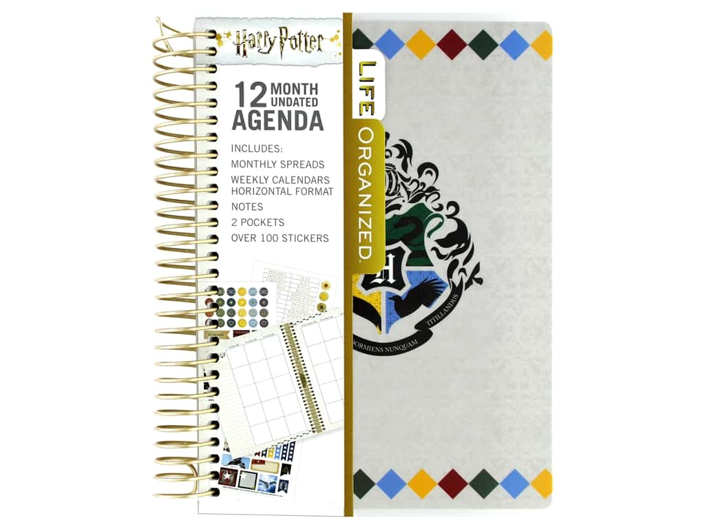 Paper House Collection Life Organized Mini Planner 12 Month Warner Bros Harry Potter