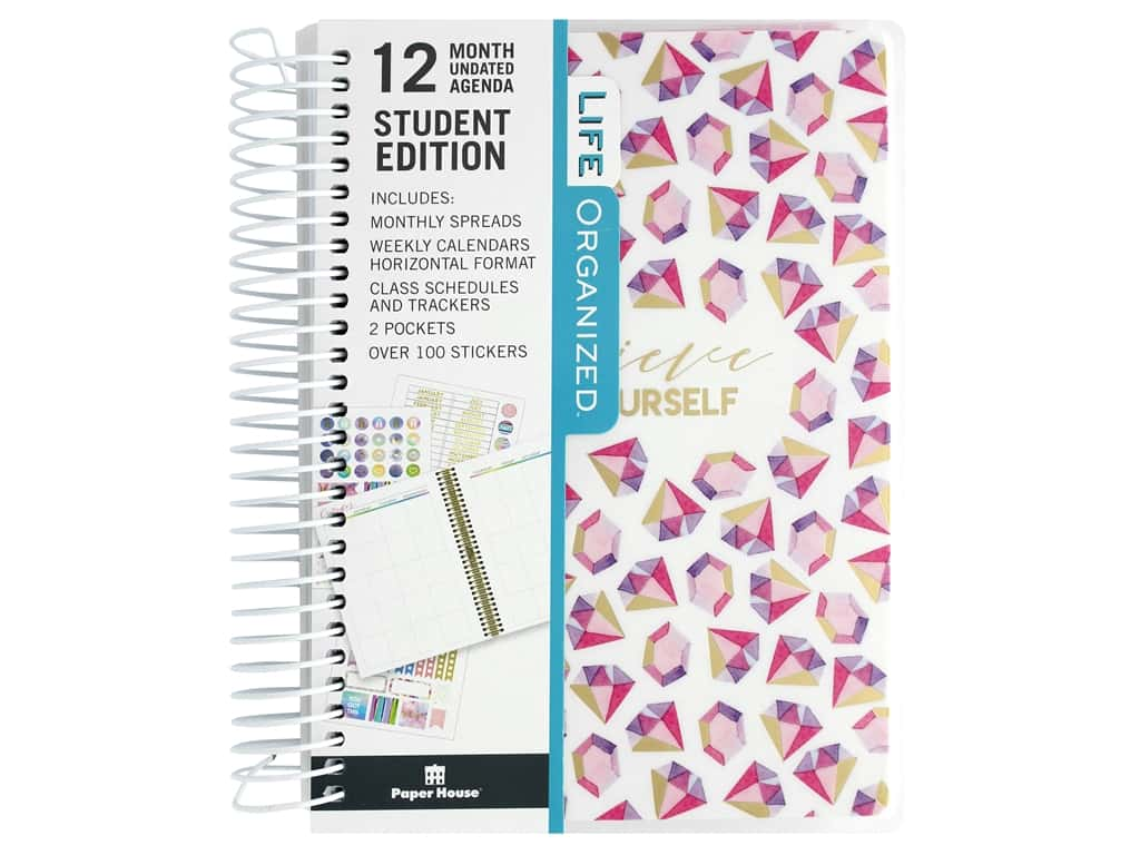 Paper House Collection Life Organized Mini Planner 12 Month Student