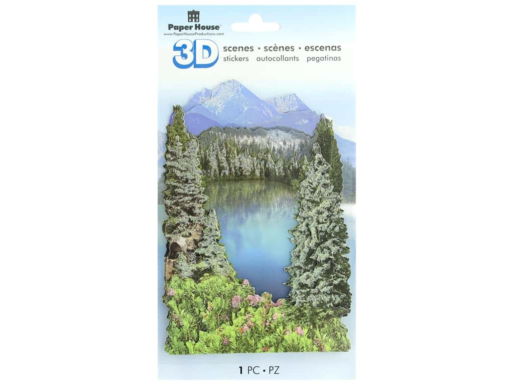 Paper House 3D Stickers - Mountain Lake