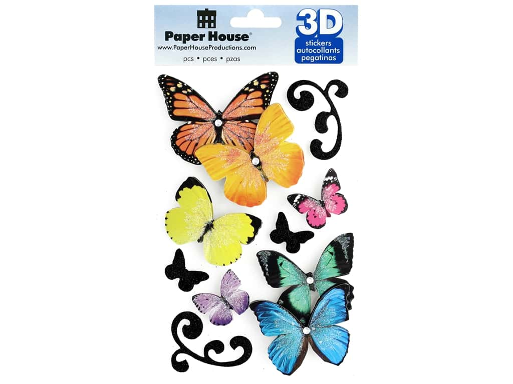 Paper House Sticker 3D Butterflies