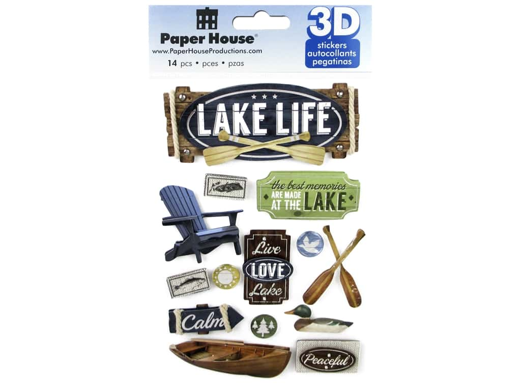 Paper House 3D Stickers - Lake Life
