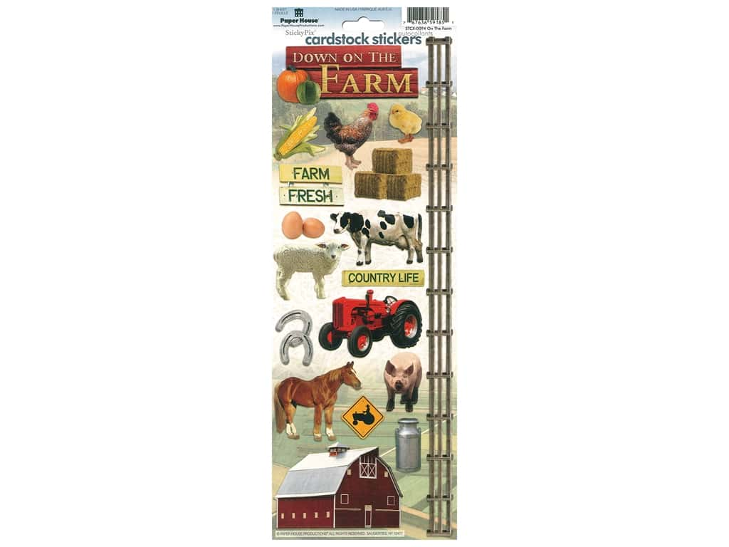 Paper House Cardstock Stickers - On The Farm
